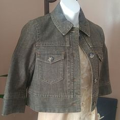 New THEORY CROP Denim Jean Jacket! New THEORY CROP Denim Jean Jacket! Zipper detail on arms. Cute buttons Slits on the sides 2 front pockets  3/4 arms Firm Super Cute Theory Jackets & Coats