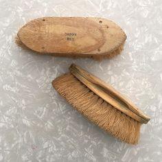 Large Brush  Vintage Set of Two Shoe Brushes