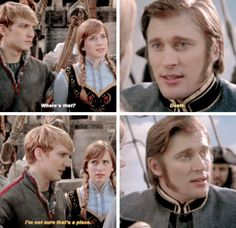 XD HAHAHA!!!!! When I say this episode he was so together when others would have fallen apart. Even better, instead of getting angry and lashing out he all of a sudden cracks a joke. This is why Kristoff is sooo awesome!!! XD <3
