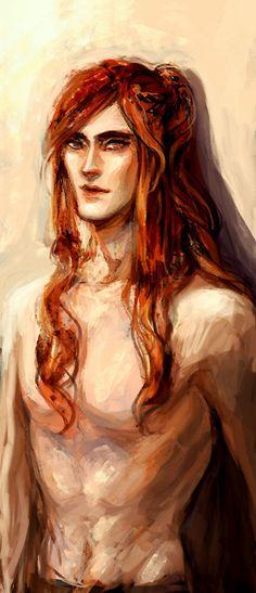 Shirtless Maedhros by Luaen
