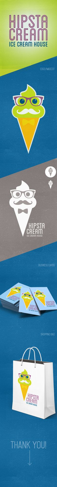 "Personal project for ice cream house called ""HipstaCream""."