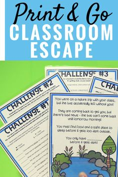 Print & Go Language Arts Escape Room. SUPER low prep & the kids will LOVE it!
