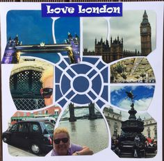 Love London. Beach Umbrella stencil. By Gillian.