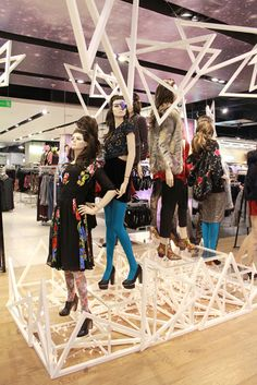 Topshop installation by studioXAG, London visual merchandising