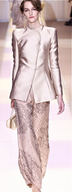 Armani Prive. Love the fabrics!