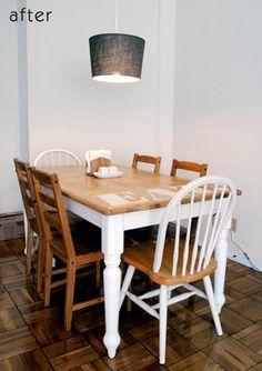 Фотография: Спальня в стиле Кантри, Кухня и столовая, Декор интерьера, DIY, Мебель и свет, Переделка, Кресло, Диван, Люстра, Комод, Зеркало, Стул, Холодильник, идеи переделки старой мебели, переделка старой мебели фото – фото на InMyRoom.ru
