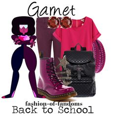 Garnet by fofandoms on Polyvore featuring J Brand, Dr. Martens, SM New York, Swarovski, Siena Jewelry, Everlasting Gold, women's clothing, women's fashion, women and female