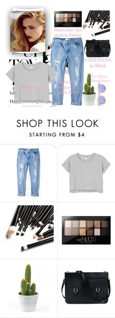 """""""Untitled #46"""" by brigette002 ❤ liked on Polyvore featuring MANGO, Monki, Maybelline and Le Specs"""