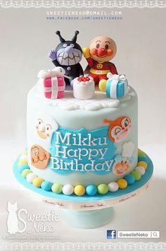 Anpanman & Baikinman cake www.facebook.com/sweetieneko