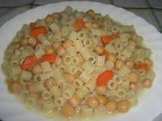 Soupe de ditalini et pois chiches Black Eyed Peas, Oatmeal, Breakfast, Or, Conch, Successful Marriage, Chickpeas, Kitchens, The Oatmeal