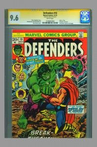 Defenders #10 CGC SS 9.6 Signed by Stan Lee now on www.vaultcollectibles.com. #avengers #thor #hulk #stanlee #cgcss