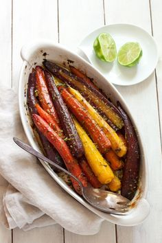 Roasted carrots with cilantro and lime   Gluten-free   Paleo