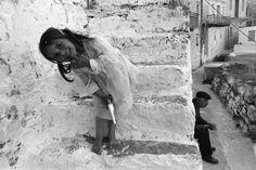 #GREECE. Dodecanese. Karpathos Island, Olymbos Village. 1989. (© Nikos Economopoulos/Magnum Photos) #laughter #pistol