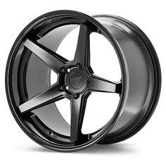 Ferrada Wheels FR3 Matte Black Gloss Black Lip