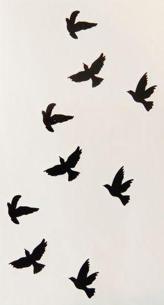 Lotus Flower,Infinity,Crowns,Birds,Stars Temporary Tattoos - New Tattoo Body Art Tattoos, New Tattoos, Small Tattoos, Cool Tattoos, Bird Silhouette Tattoos, Freedom Tattoos, Black Bird Tattoo, Bird Tattoos, Beste Tattoo
