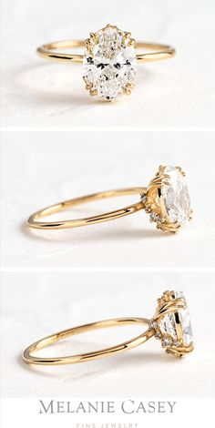 A unique upgraded engagement ring, featuring a oval cut diamond in an open basket setting accented by sweeps of white diamond. For more information on our upgraded engagement rings, visit melan Anillo Art Nouveau, Ring Designs, Diamond Rings, Diamond Engagement Rings, 1920s Engagement Ring, Vintage Gold Engagement Rings, Designer Engagement Rings, Bling Bling, Thing 1