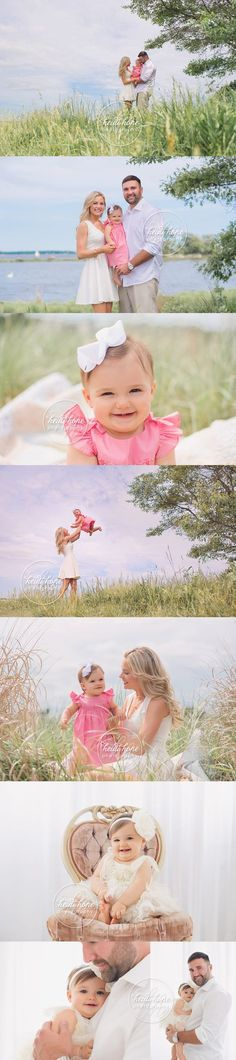 first birthday cakesmash shabby chic with flowers and outdoor family portraits