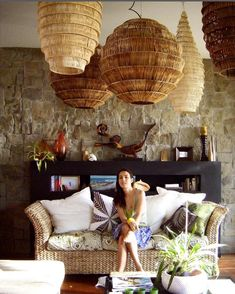 While on my Pinterest binge, I came across this shot of Sarah Louise's living…