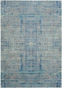 "3x5 $112.50 1/4"" synthetic Safavieh Mystique Mys971d Light Blue - Multi Area Rug"