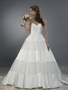 Alfred Angelo Style 2469: strapless mixed fabric skirt wedding dress
