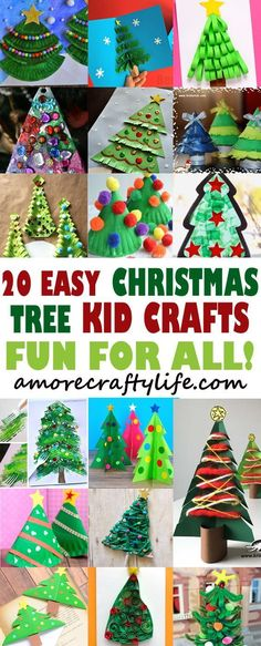 Christmas Tree Kid Crafts – Christmas Fun - A More Crafty Life Christmas Decor Diy Cheap, Christmas Arts And Crafts, Winter Crafts For Kids, Preschool Christmas, Toddler Christmas, Christmas Activities, Christmas Crafts For Kids, Christmas Projects, Christmas Fun
