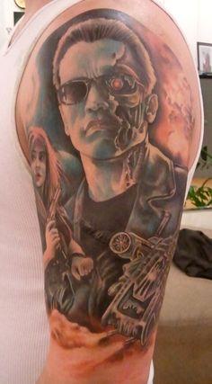 Sarah Miller Tattoo Pittsburgh   ... Schwarzenegger Terminator Tattoo by Sarah Miller   TattooPics.org