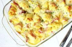 Rezepte mit Herz ♥: Blumenkohl - Kartoffel - Auflauf mit Schinken und ...
