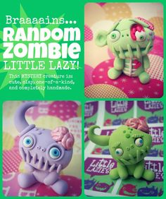 Random ZOMBIE Little Lazy by LittleLazies on Etsy, $15.00    http://www.etsy.com/listing/107720403/random-zombie-little-lazy?ref=sr_gallery_25_search_query=zombie+_order=most_relevant_view_type=gallery_ship_to=US_page=2_search_type=all    https://www.facebook.com/littlelazies