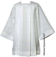 Tailored Priest Surplice with White Banding