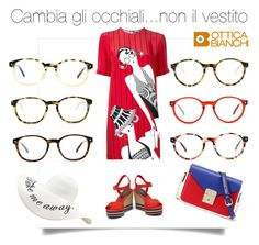 """""""A lot of glasses only one dress"""" by trendcrossing on Polyvore featuring moda, Holly Fulton, WithChic e snobmilano"""