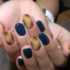 Autumn nails, べっ甲ネイル