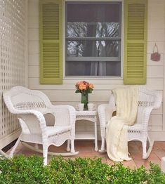 A favorite little charming bed and breakfast in Calistoga -    This little white cottage with   little lime green shutters and an old fashioned porch   had me ...