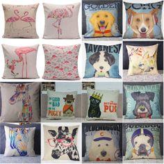 European Classic Cotton Linen Cushion Cover Retro Vintage Sofa Throw Pillow Case
