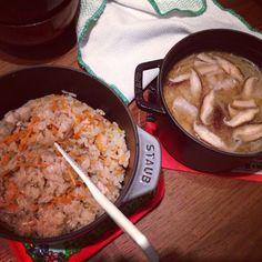 鶏ごぼうの炊き込みご飯 #staub http://honey-memo.tumblr.com/post/137408091342/