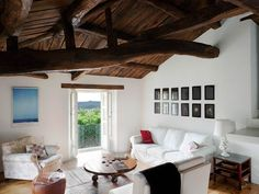 Rural house in Galicia, Spain Patio Interior, Interior Design, Howard Sofa, Dutch House, Rural House, Wooden Ceilings, London Apartment, Vacation Home Rentals, House Rentals