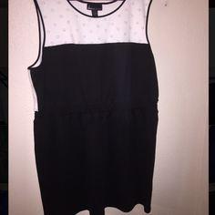 Lane Bryant Knee Length black and White dress LB black and white knee length dress with white and gold accent Lane Bryant Dresses Midi