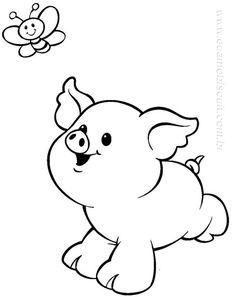 ::ARTESANATO VIRTUAL - Tecnicas de Artesanato | Dicas para Artesanato | Passo a Passo:: Farm Animal Coloring Pages, Coloring Pages To Print, Coloring Books, Coloring Sheets, Cartoon Drawings, Animal Drawings, Farm Quilt, Cut Animals, Silhouette Images