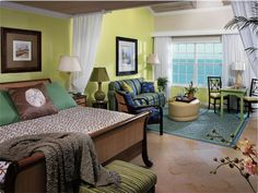 Key West style room
