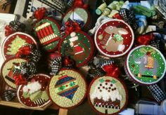 building a needlepoint ornament collection...