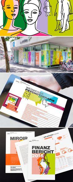 Erscheinungsbild Universitäre Psychiatrische Kliniken, Basel   #upk #Illustration #Design #designersfactory Basel, Corporate Design, Portfolio Design, Illustration, Mirror, Mental Health Clinic, Past, Drawing S, Pictures