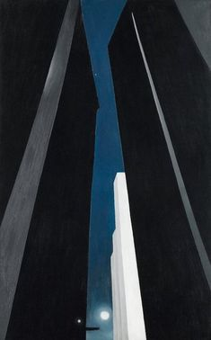 Georgia O'Keefe.  I love her series of paintings done in Manhattan...not often seen...beautiful.
