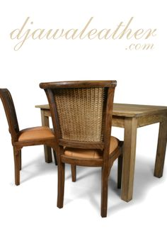 Barric Leather Dining Chair in a set. Dining Furniture Sets, Furniture Board, Colonial Furniture, Leather Dining Chairs, Rustic, Home Decor, Country Primitive, Decoration Home, Room Decor