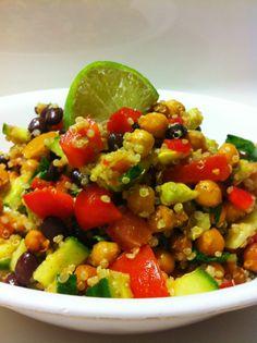 High Protein Vegan Fiesta Salad.