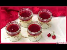 Panna cotta s malinovým přelivem. Dezert do skleničky. - YouTube Panna Cotta, Pudding, Ethnic Recipes, Desserts, Youtube, Food, Tailgate Desserts, Dulce De Leche, Deserts