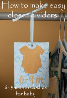 First Attempt with Mod Podge + Baby Closet Dividers » Our Daily Coffee