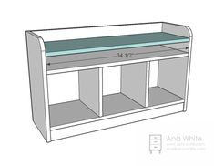 Ana White | Build a Perfect Cubby Bench | Free and Easy DIY Project and Furniture Plans