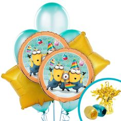 Minions Despicable Me - Balloon Bouquet from BirthdayExpress.com