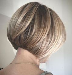Concave Bob Hairstyles, Bob Hairstyles For Fine Hair, Modern Haircuts, Short Bob Hairstyles, Pixie Haircuts, Medium Hairstyles, Wedding Hairstyles, Braided Hairstyles, Modern Hairstyles