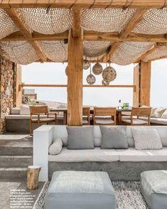 Outdoor Lifestyle : Photos Terrace – Home Decoration Outdoor Seating, Outdoor Rooms, Outdoor Cafe, Garden Seating, Outdoor Kitchens, Indoor Outdoor Living, Home Deco, Gazebos, Interior And Exterior