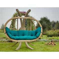 Amazonas Globo Royal Hanging Pod Chair - Green | Internet Gardener